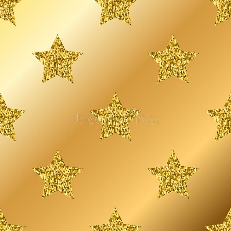 Яркий блеск вектора золотой играет главные роли безшовная картина бесплатная иллюстрация