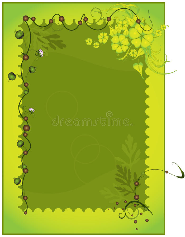 яркий вектор изображения зеленого цвета рамки иллюстрация штока