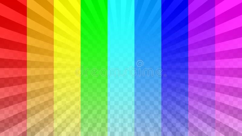 Яркий верхний слой лучей иллюстрация штока