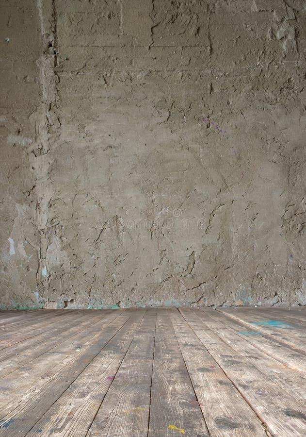 Яркий винтажный интерьер студии стоковое изображение