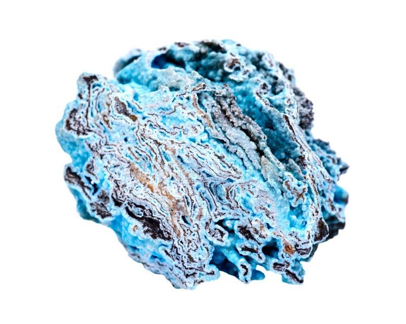Яркий голубой грубый hemimorphite от Wenshan, провинция Yuunan, Китай стоковое изображение rf