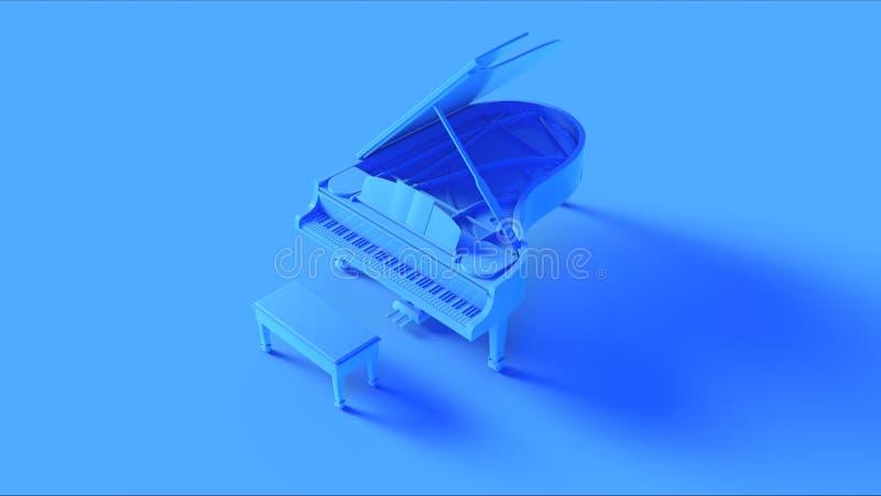Яркий голубой рояль бесплатная иллюстрация