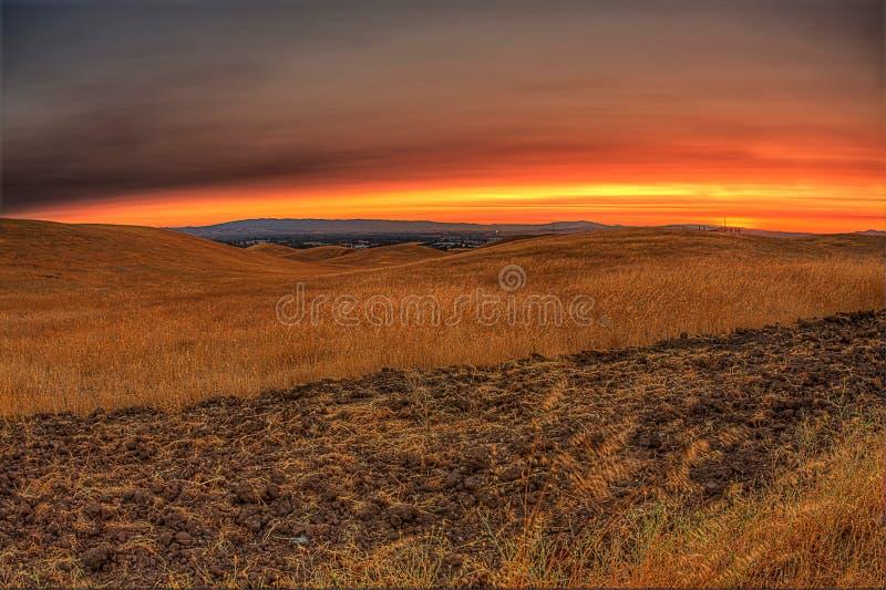 Яркий заход солнца стоковое фото
