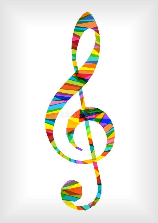 Яркий ключ музыки бесплатная иллюстрация