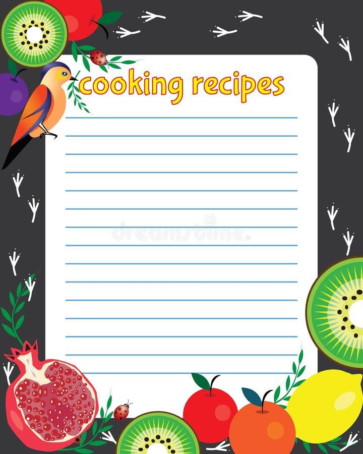 Яркий лист бумаги для рецепта иллюстрация вектора