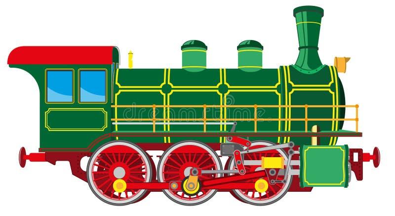 Яркий локомотив пара шаржа иллюстрация штока
