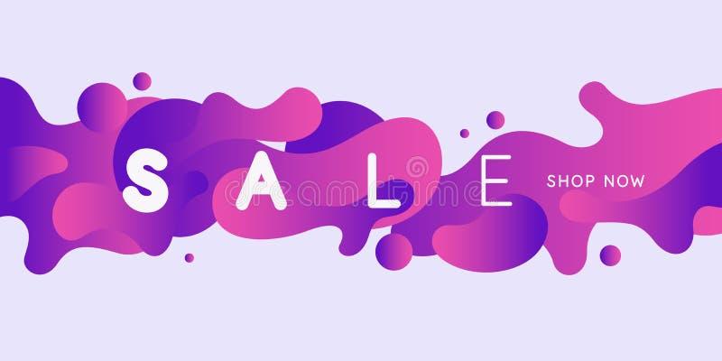 Яркий плакат продажи с динамикой брызгает Иллюстрация вектора в минимальном стиле бесплатная иллюстрация