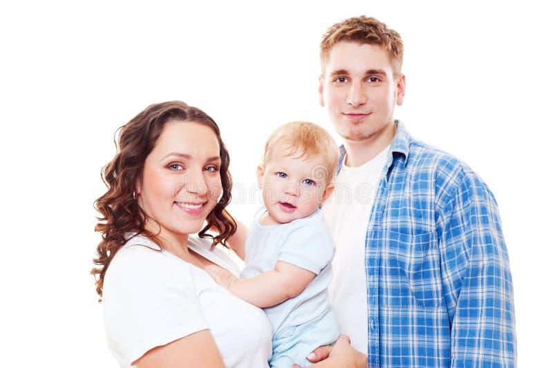 Яркий портрет счастливой семьи стоковая фотография
