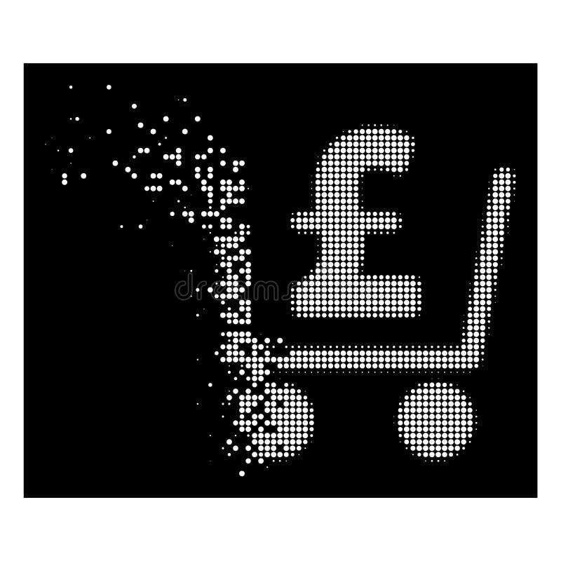 Яркий растворяя значок проверки фунта полутонового изображения пиксела иллюстрация вектора
