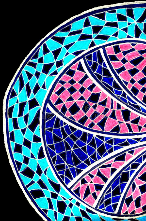 Яркий рисовать руки красочной сделанной по образцу полуокружности иллюстрация вектора