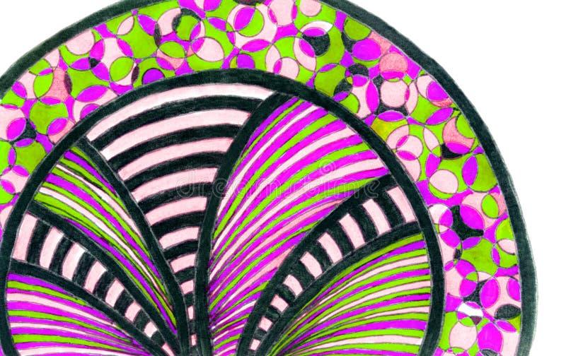 Яркий рисовать руки красочной сделанной по образцу полуокружности бесплатная иллюстрация