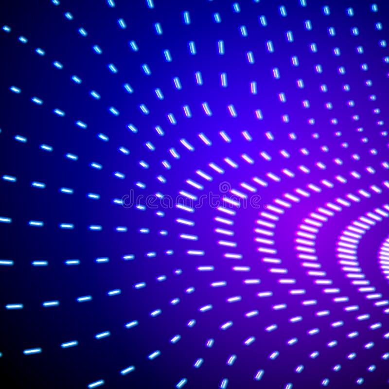 Яркий сияющий неон выравнивает предпосылку с полем силы иллюстрация вектора