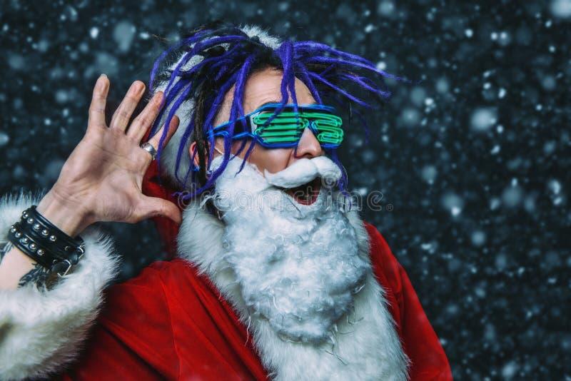 Яркий стильный santa стоковое фото rf