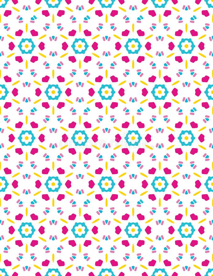 Яркий цветок маргаритки лета зацветает безшовная картина vectpr Стилизованное геометрическое флористическое на всем печать Женств иллюстрация вектора