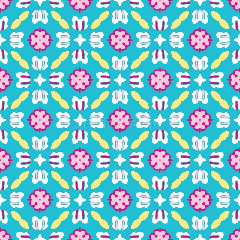 Яркий цветок маргаритки лета зацветает безшовная картина vectpr Стилизованное геометрическое флористическое на всем печать Женств стоковая фотография