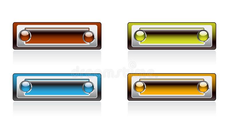 яркий цвет обшивает панелями прямоугольное иллюстрация штока