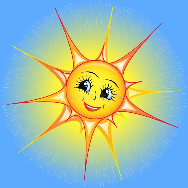 Рисунок солнце с лучами в руках
