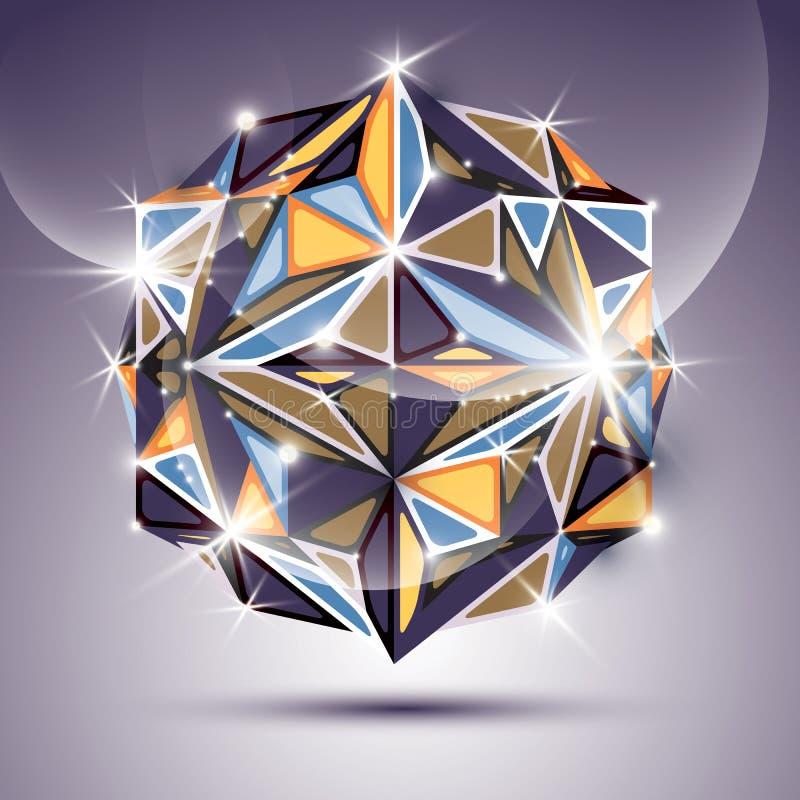 яркий шарик диско блеска 3D Вектора фрактали ослеплять конспект i иллюстрация штока