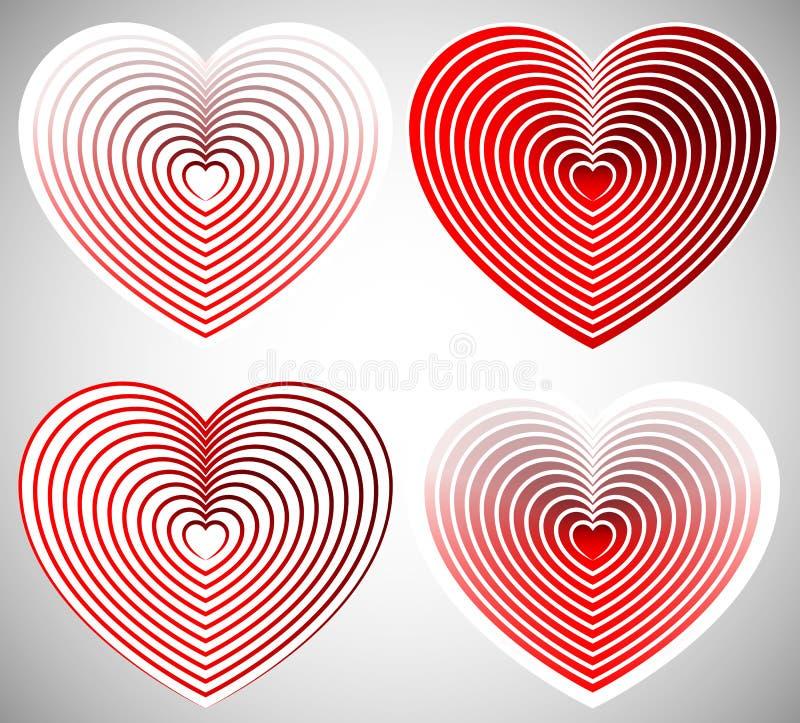 Download Яркий элемент сердца с планами в радиальной моде Иллюстрация вектора - иллюстрации насчитывающей элемент, датировка: 81801870
