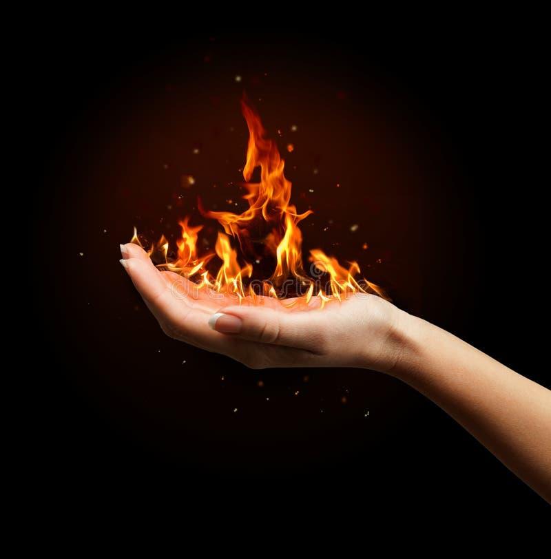 Яркий flamy символ стоковое изображение rf