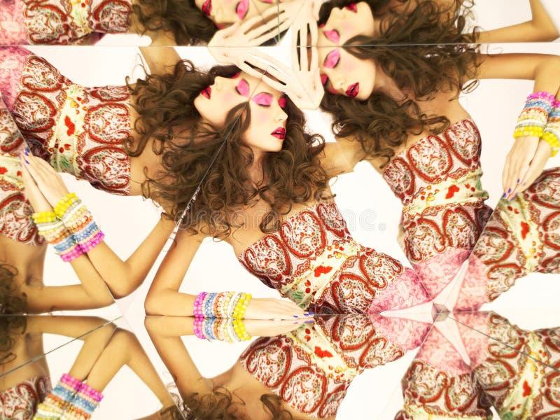 яркий kaleidoscope брюнет стоковые изображения rf