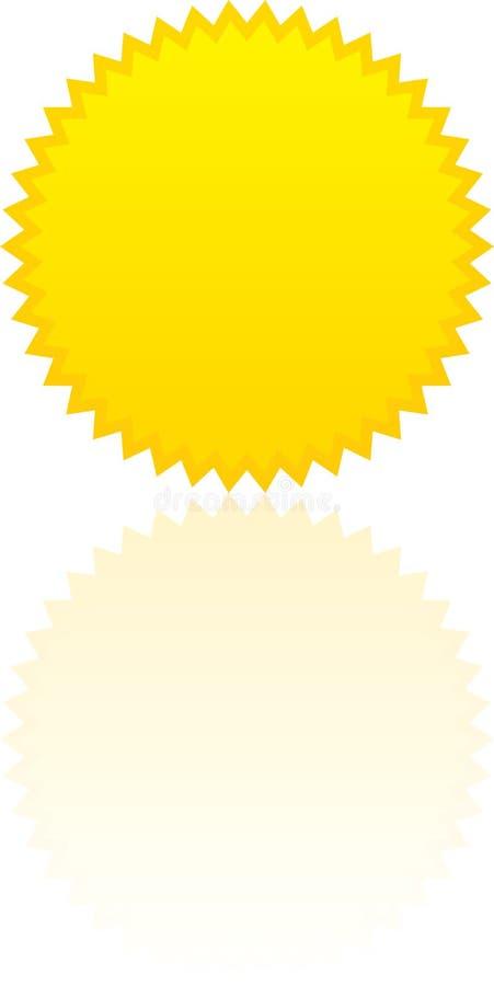 яркий sunburst иллюстрация штока