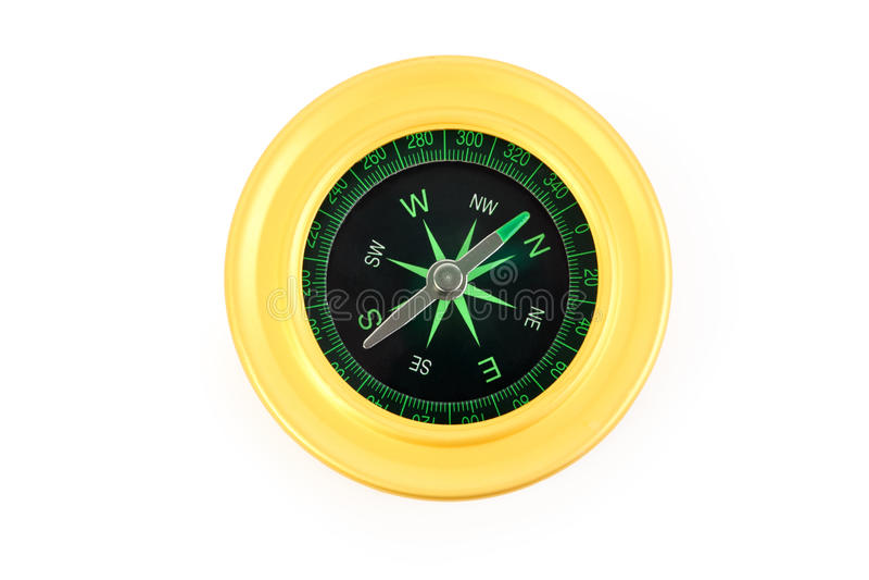 ярким белизна изолированная компасом стоковая фотография rf