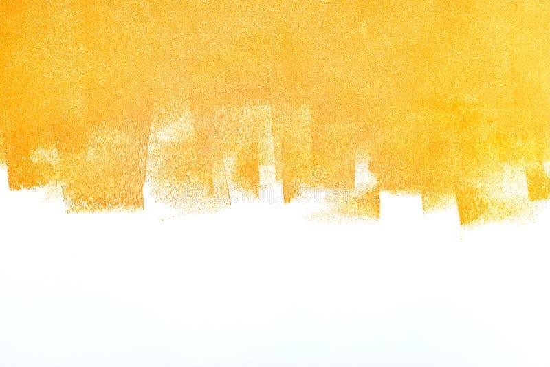 Ярким стена покрашенная апельсином Концепция реновации квартиры стоковые изображения rf