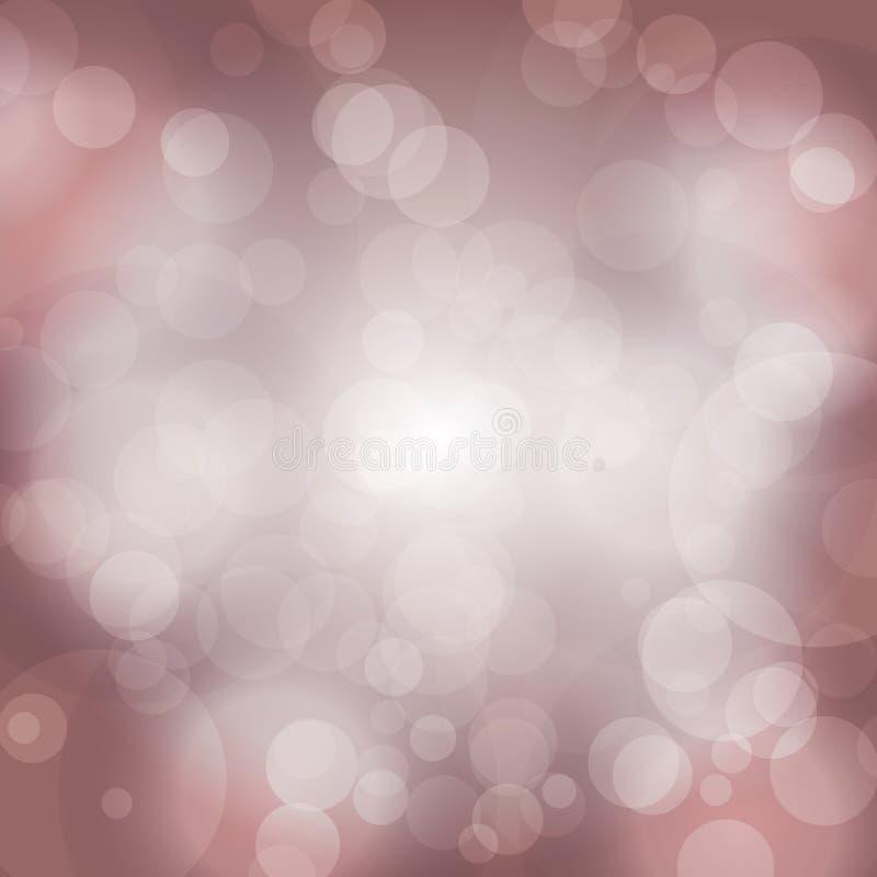 Яркого блеска дизайна зарева предпосылки светов партии влияния вектора предпосылки Bokeh сверкная теплый запачканный фон празднич иллюстрация штока