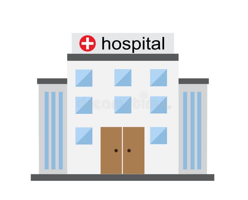 Яркое здание больницы бесплатная иллюстрация