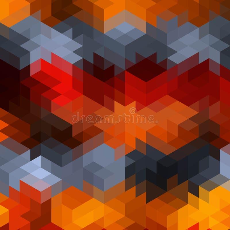 яркое красочное геометрическое изображение Куб - Vektorgrafik 10 eps иллюстрация вектора