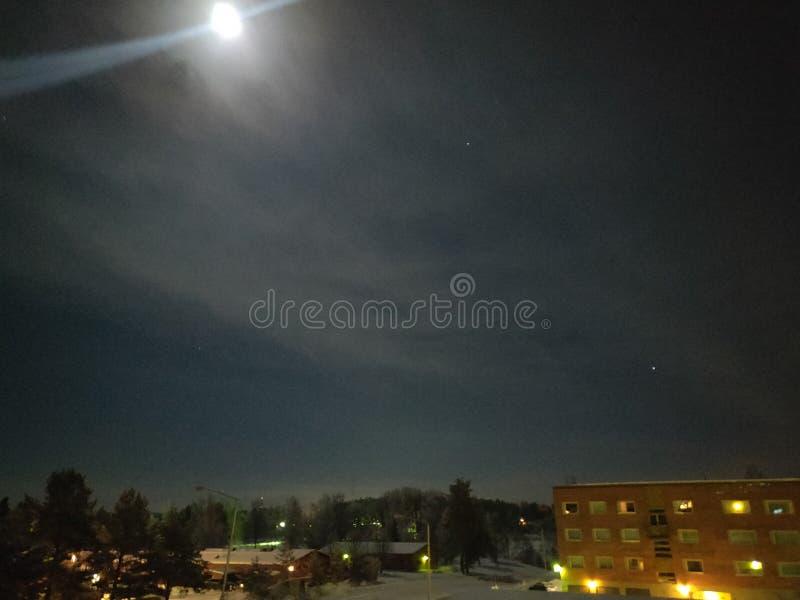 Яркое небо полнолуния стоковая фотография