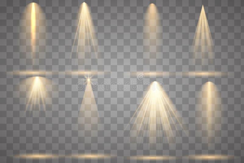 Яркое освещение с фарами иллюстрация штока