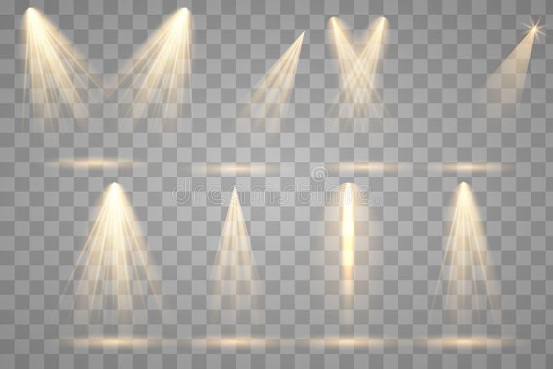 Яркое освещение с фарами бесплатная иллюстрация