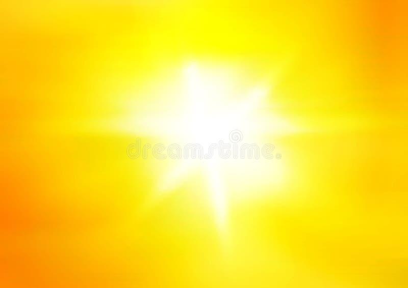 яркое солнце объектива пирофакела иллюстрация вектора