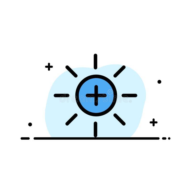 Яркость, интерфейс, Ui, линия дела потребителя плоская заполнила шаблон знамени вектора значка бесплатная иллюстрация