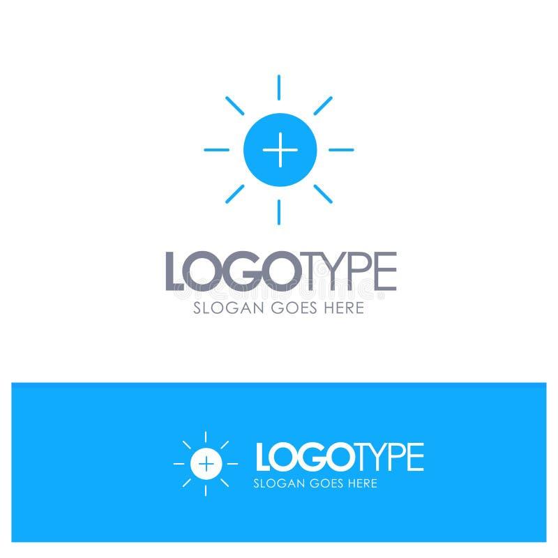 Яркость, интерфейс, Ui, логотип потребителя голубой твердый с местом для слогана иллюстрация штока