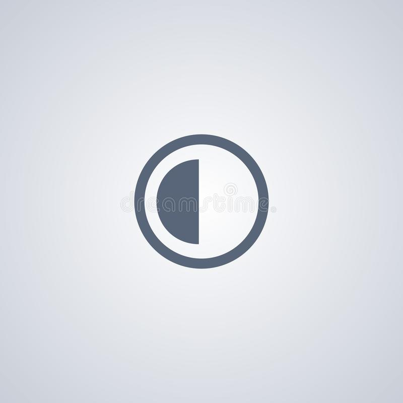 Яркость и контраст, vector самый лучший плоский значок иллюстрация штока