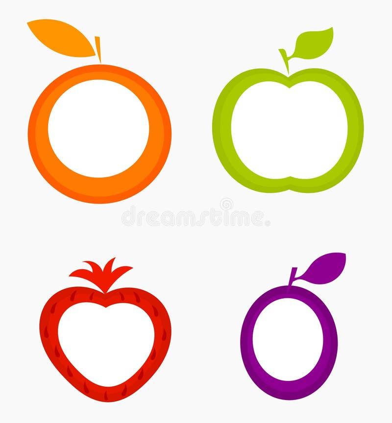Ярлыки плодоовощ иллюстрация вектора