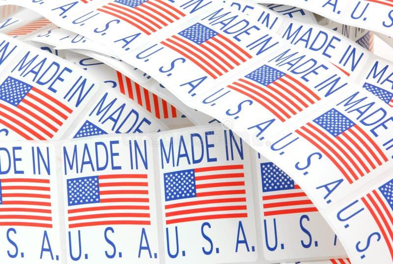 ярлыки сделали США стоковая фотография