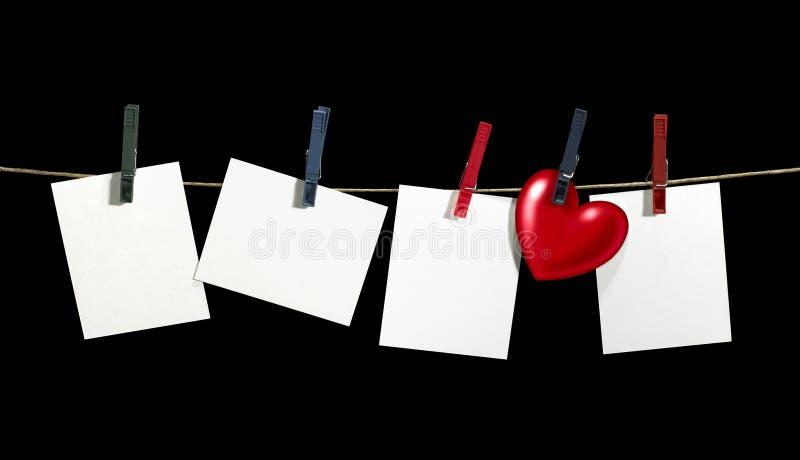 ярлыки clothesline стоковое изображение
