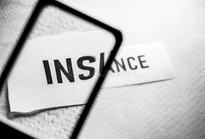 Ярлык бирки страхования стоковая фотография rf