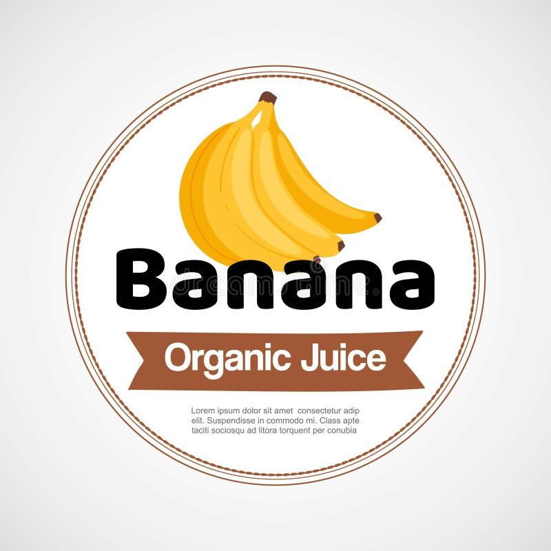 Ярлык вектора банана или иллюстрация логотипа в круге изолированном на белой предпосылке Пук желтых бананов r иллюстрация вектора