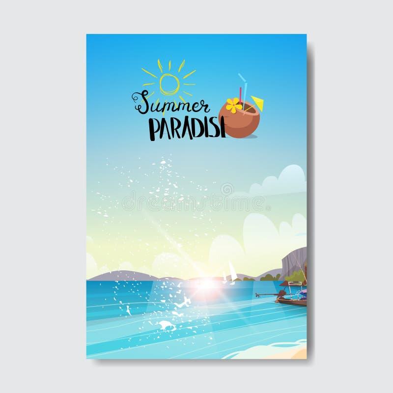 Ярлык дизайна значка каникул восхода солнца ландшафта пляжа лета Приправьте праздники помечая буквами для логотипа, шаблоны, приг бесплатная иллюстрация