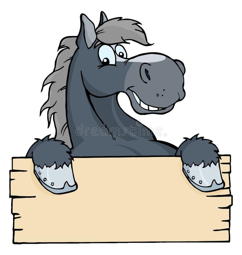 Ярлык лошади шаржа иллюстрация штока
