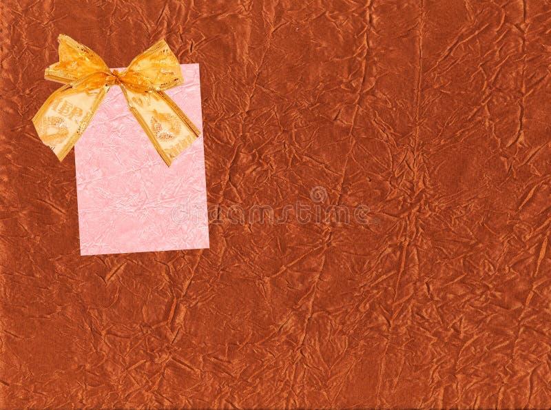 ярлык смычка праздничный иллюстрация штока