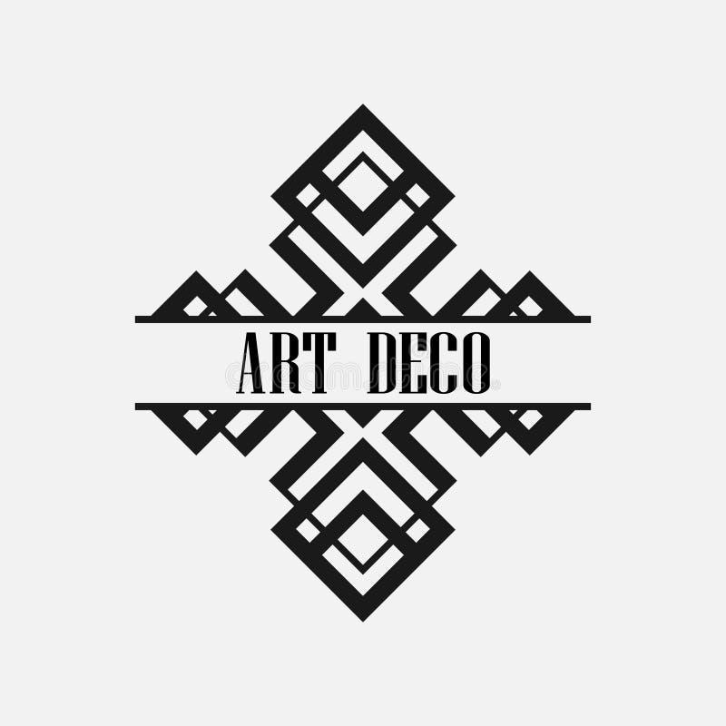 Ярлык стиля Арт Деко стоковые изображения