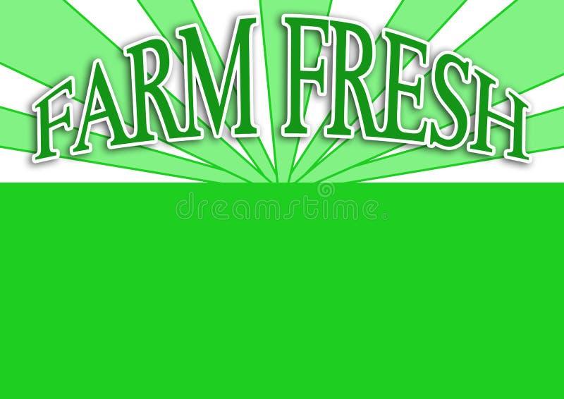 ярлык фермы свежий зеленый иллюстрация штока