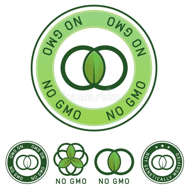 ярлык gmo еды genetically не доработал никакое не иллюстрация штока