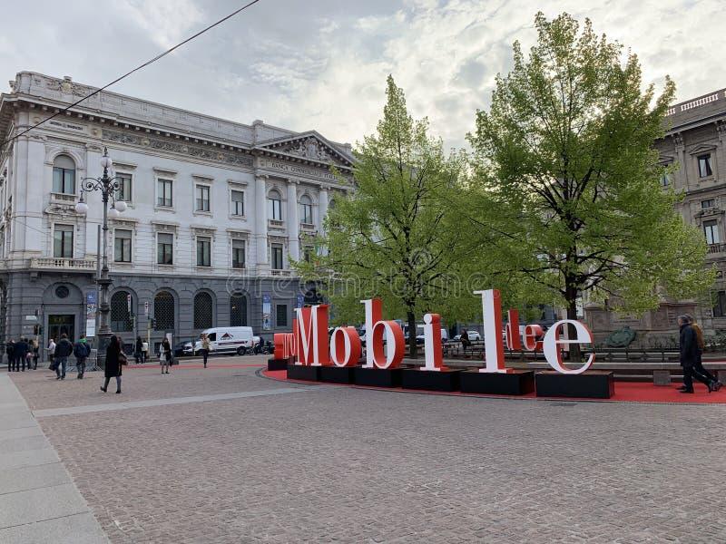 Ярмарка 2019 мебели Милана в Италии стоковое фото rf
